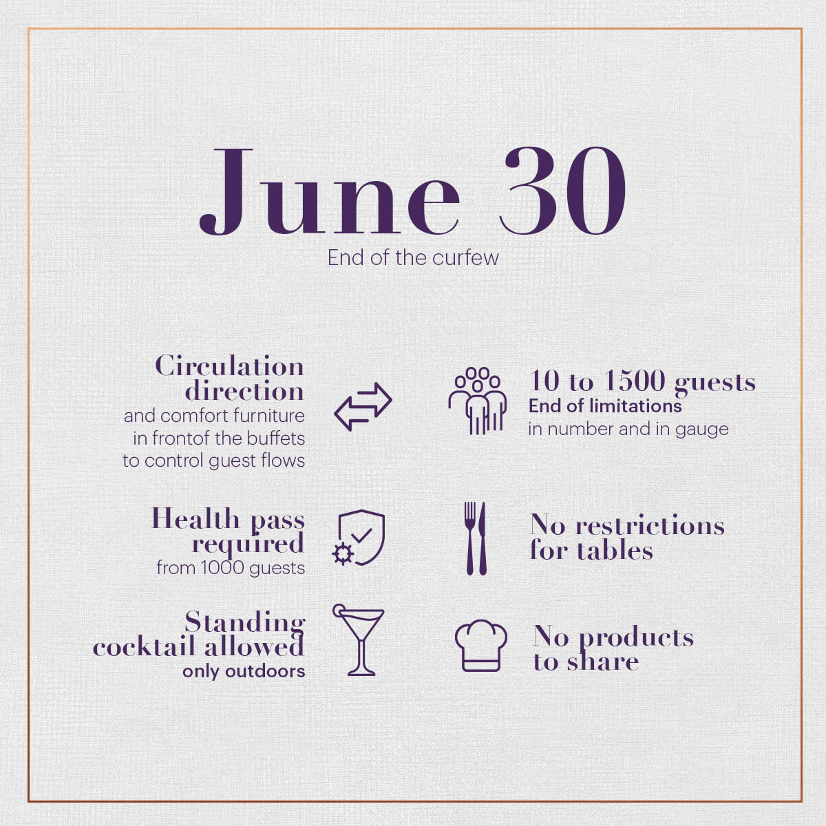 Health protocole - June 30